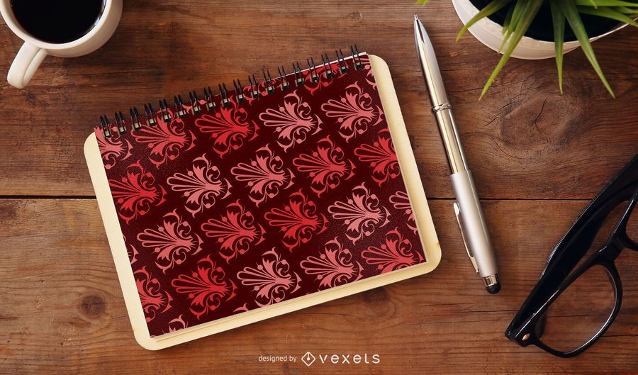 Red Background Pattern 4