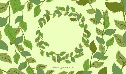 Círculos de folhas verdes