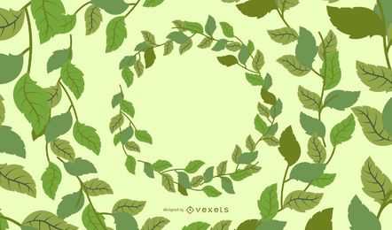 Corda de folhas verdes