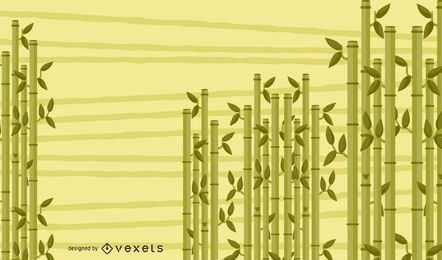Diseño de fondo de bambú ilustrado