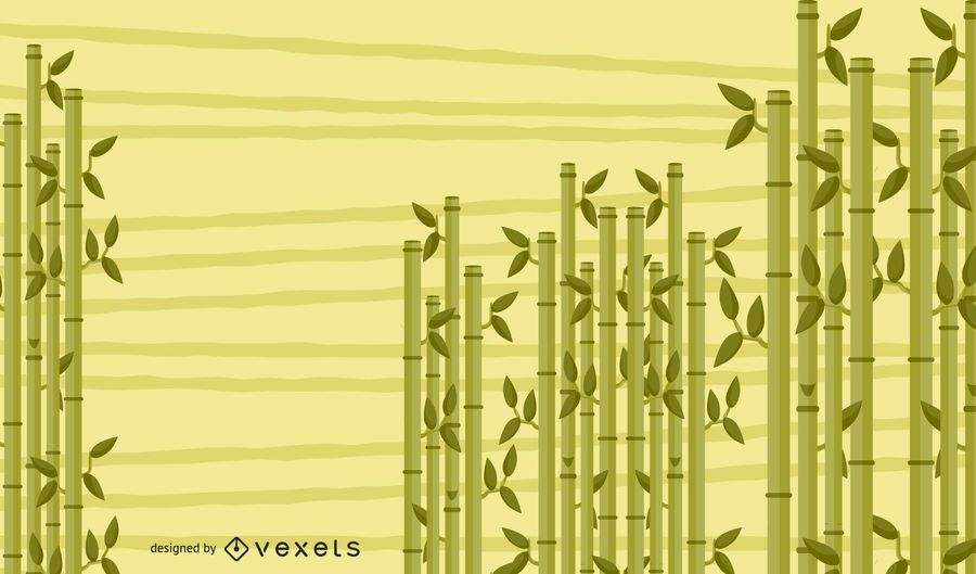 Illustrated Bamboo Background Design