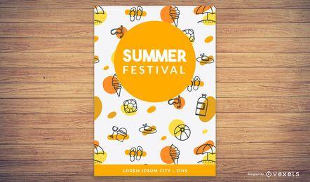Sommer-Themenkarte