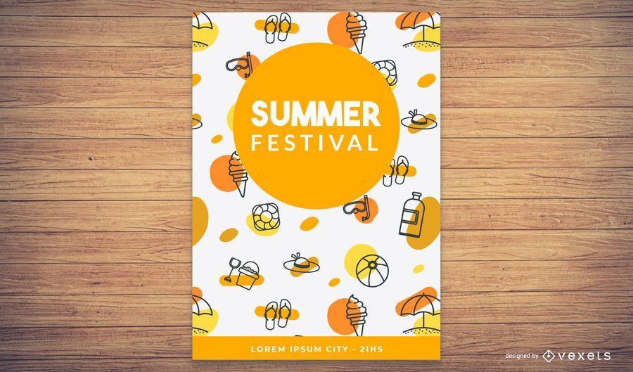 Tarjeta de tema de verano