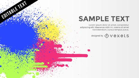 Salpicaduras de color de fondo con texto