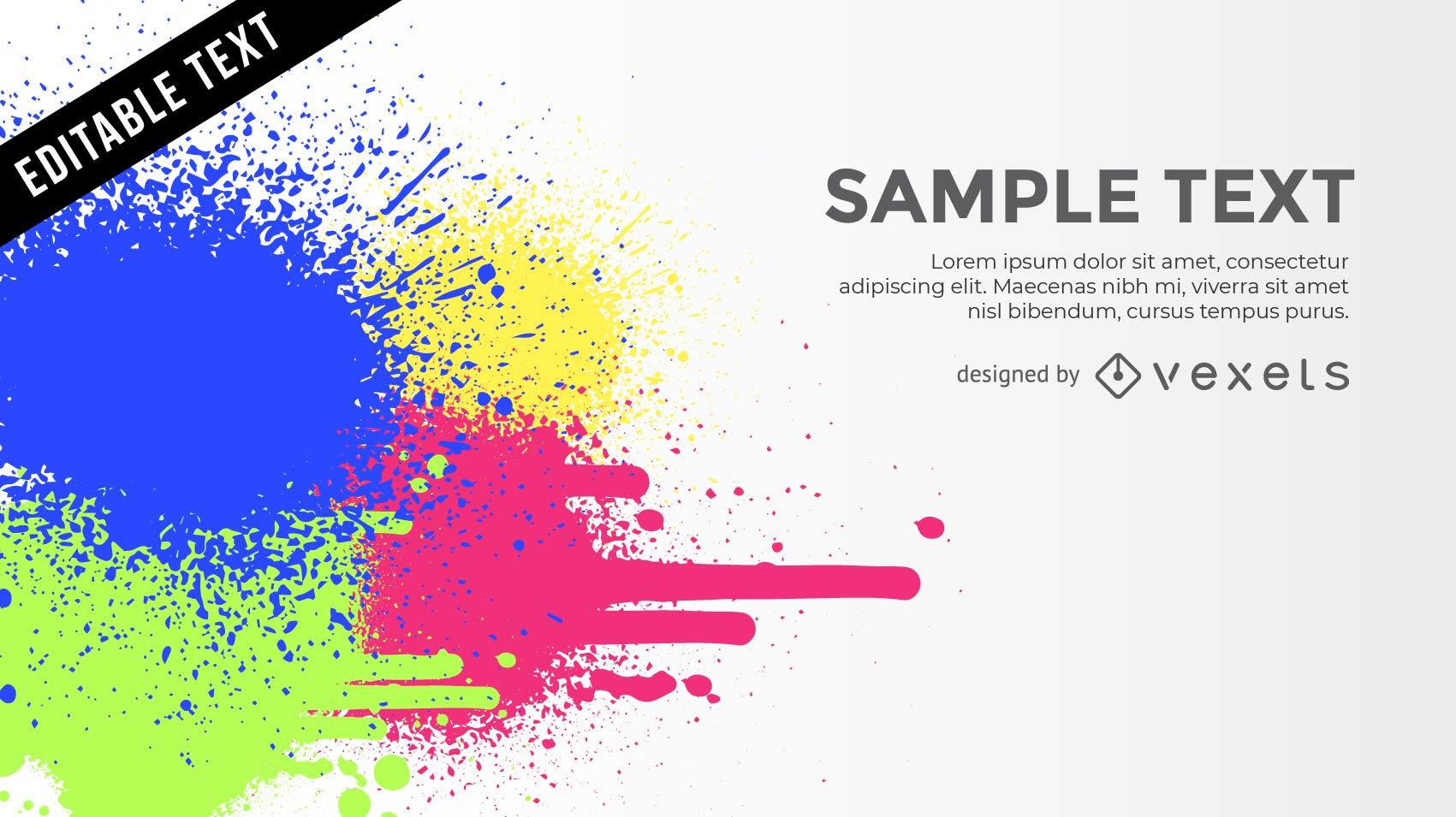 Fondo de salpicaduras de color con texto