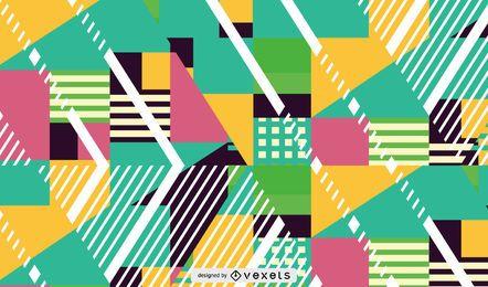 formas de cor e padrão
