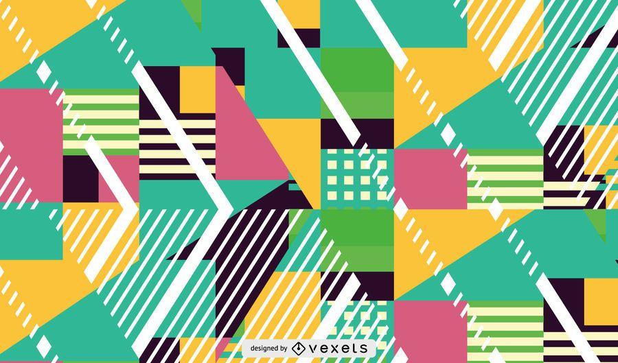 formas de color y patrón