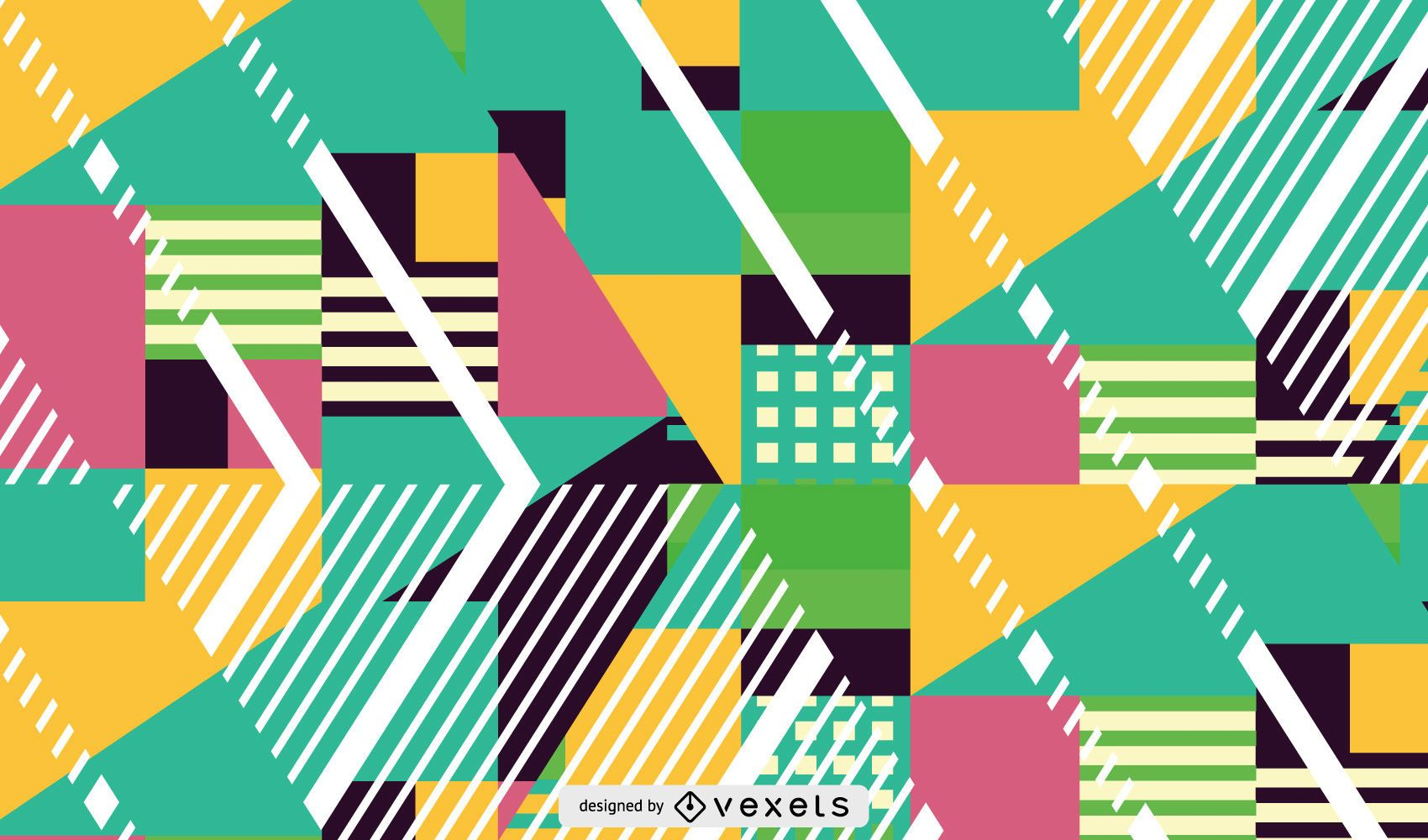 Color and shapes pattern