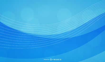 Abstract blue waves background collection