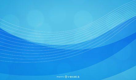 Colección de fondo abstracto azul olas