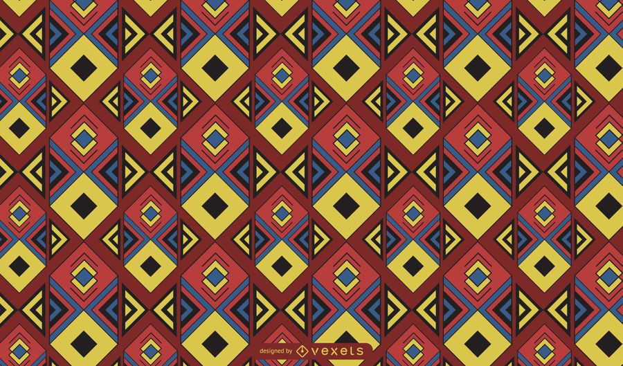 Colorful boho patterns illustration