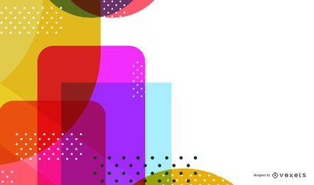 Diseño de fondo de formas abstractas coloridas brillantes