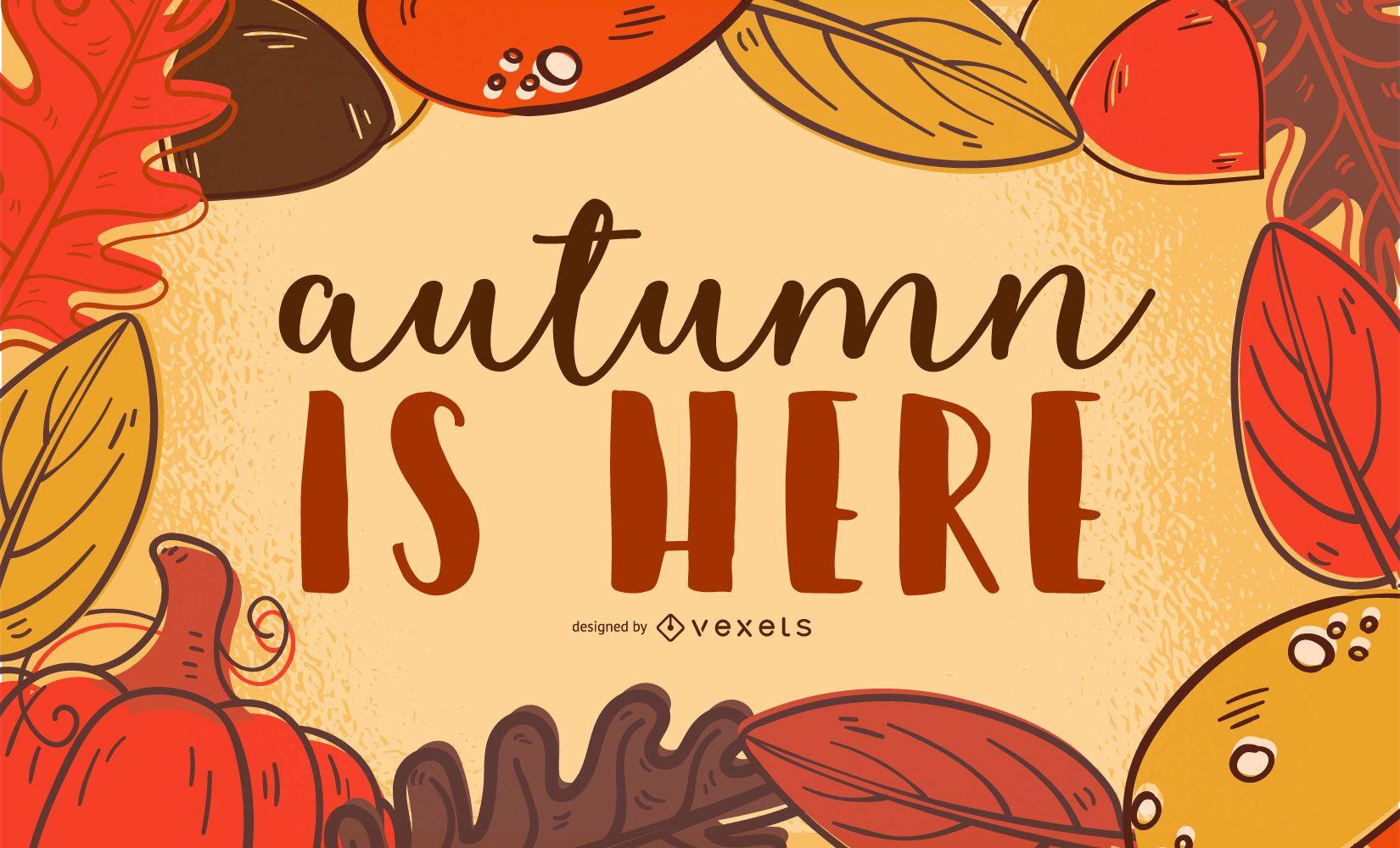Vector hojas de otoño
