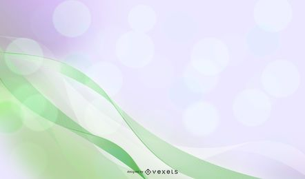 Abstract waves green background