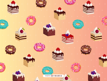 Cartoon Dessert Background 4