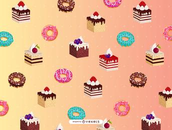Cartoon Dessert Background 4