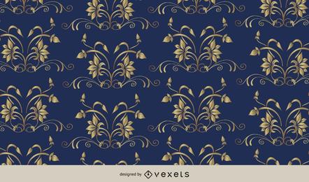 European Floral Pattern Background