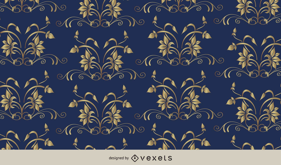 European Floral Pattern Background