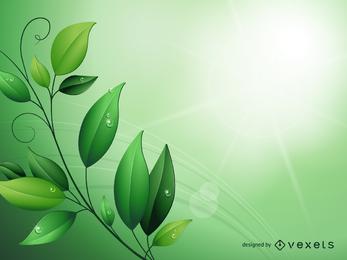 Fundo de folhas verdes mágicas