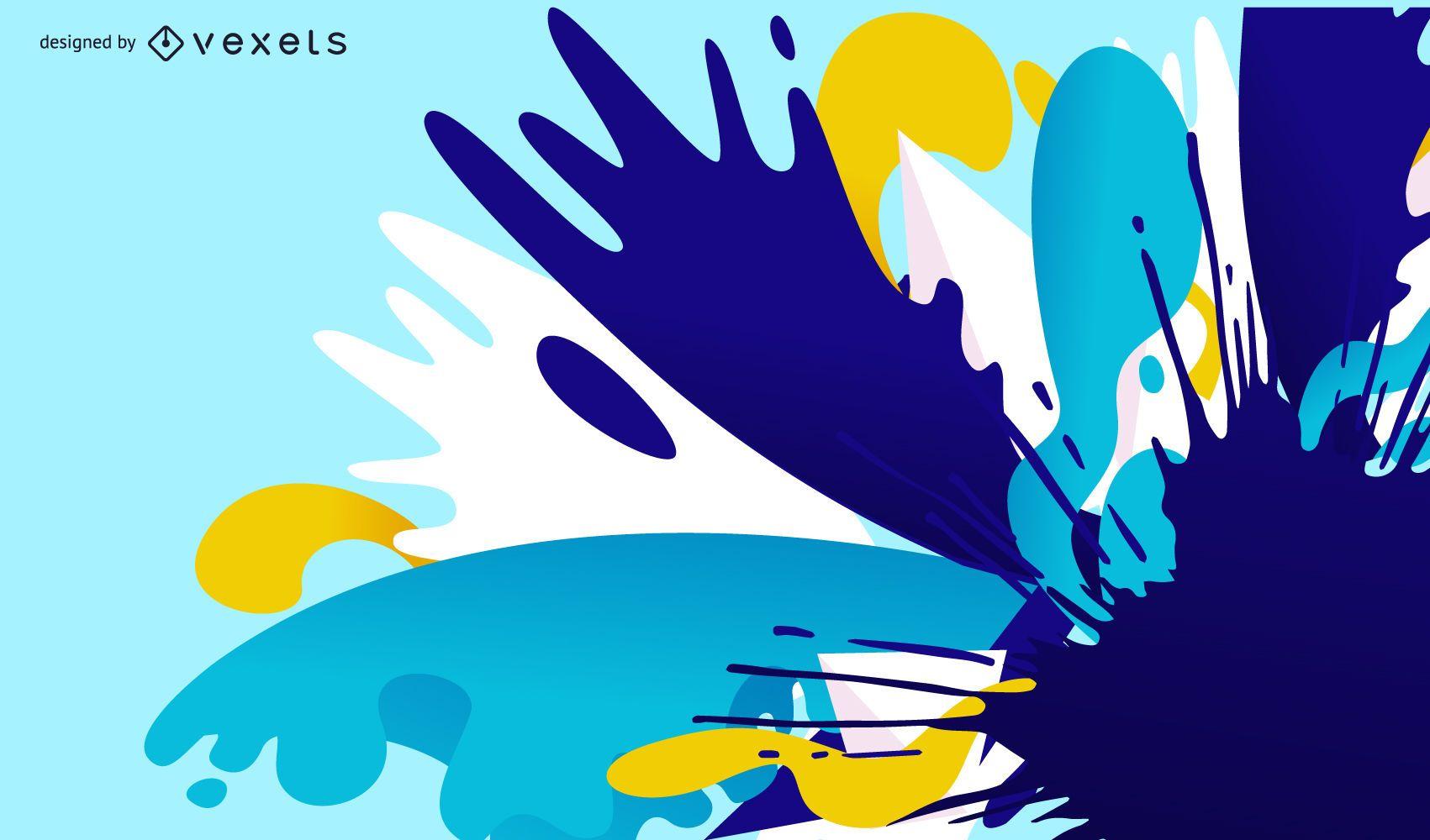 Background Ink Splatter