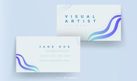 Elegante tarjeta azul