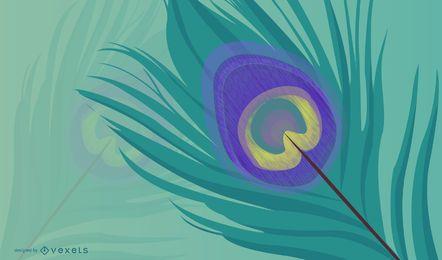 Líneas de plumas de pavo real 2