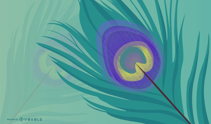 Peacock Feather Lines 2
