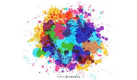 Fundo de tinta de cor 4