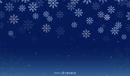 Night Snowflake Winter Background