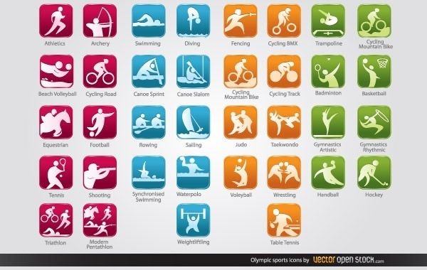 Ícones de esportes olímpicos