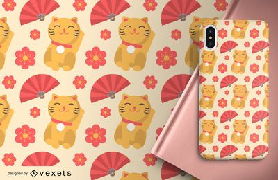 Cute Japanese Pattern Background Design