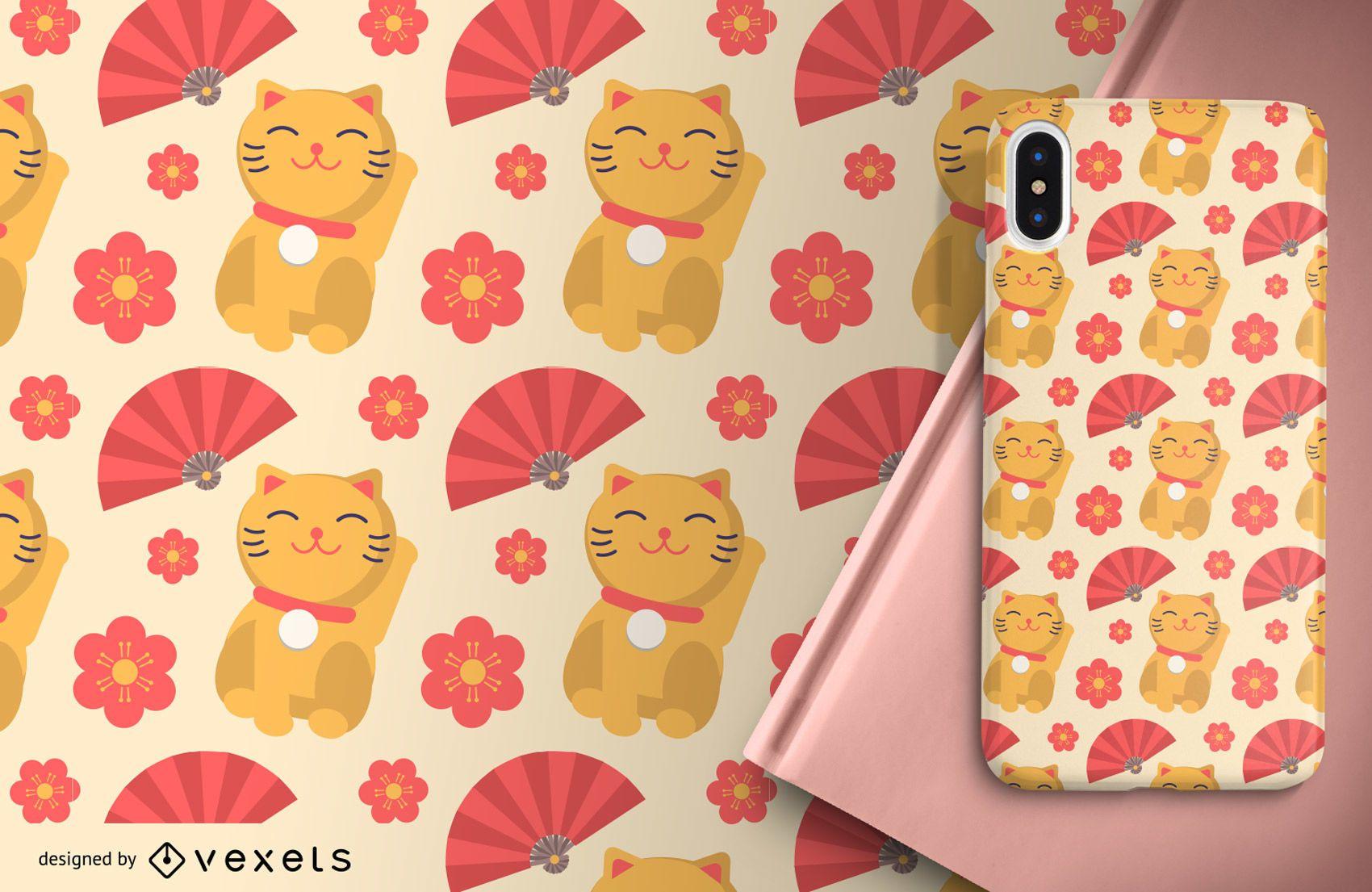 Diseño de fondo lindo patrón japonés