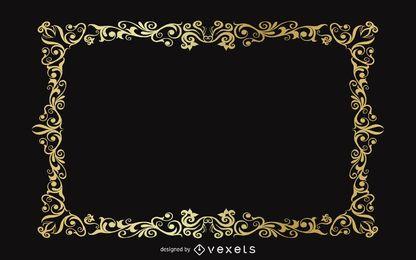 Design de pano de fundo vintage moldura de ouro