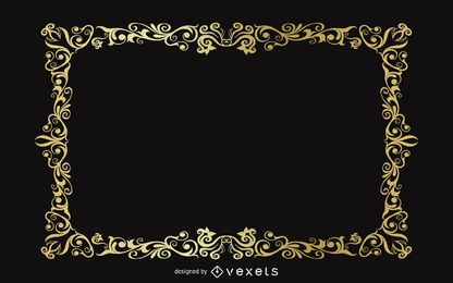 Vintage gold frame backdrop design