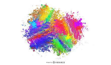 Diseño de Splat abstracto de tinta colorida