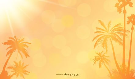 Summer Palms Background Vector