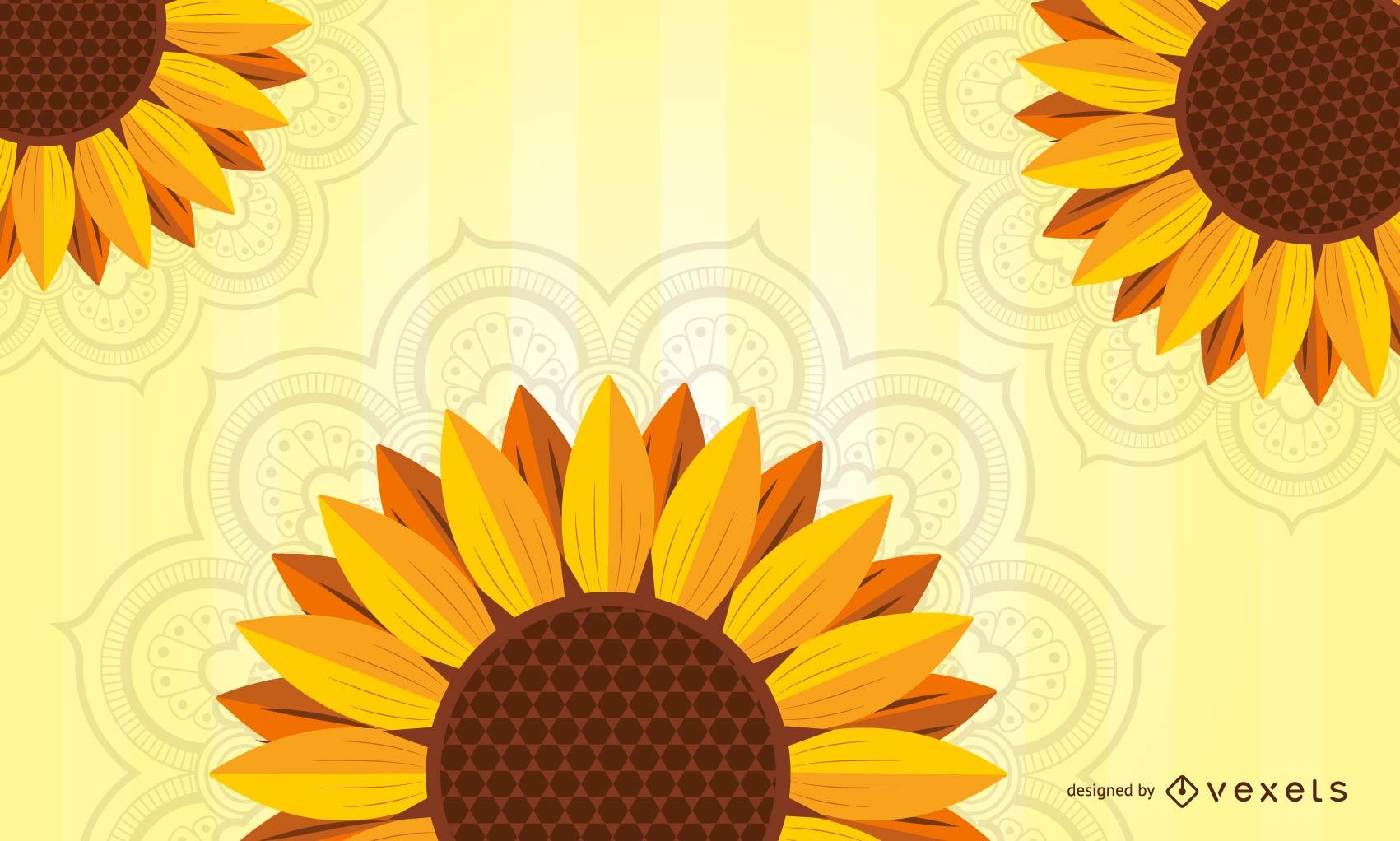 Spring Sunflower Background