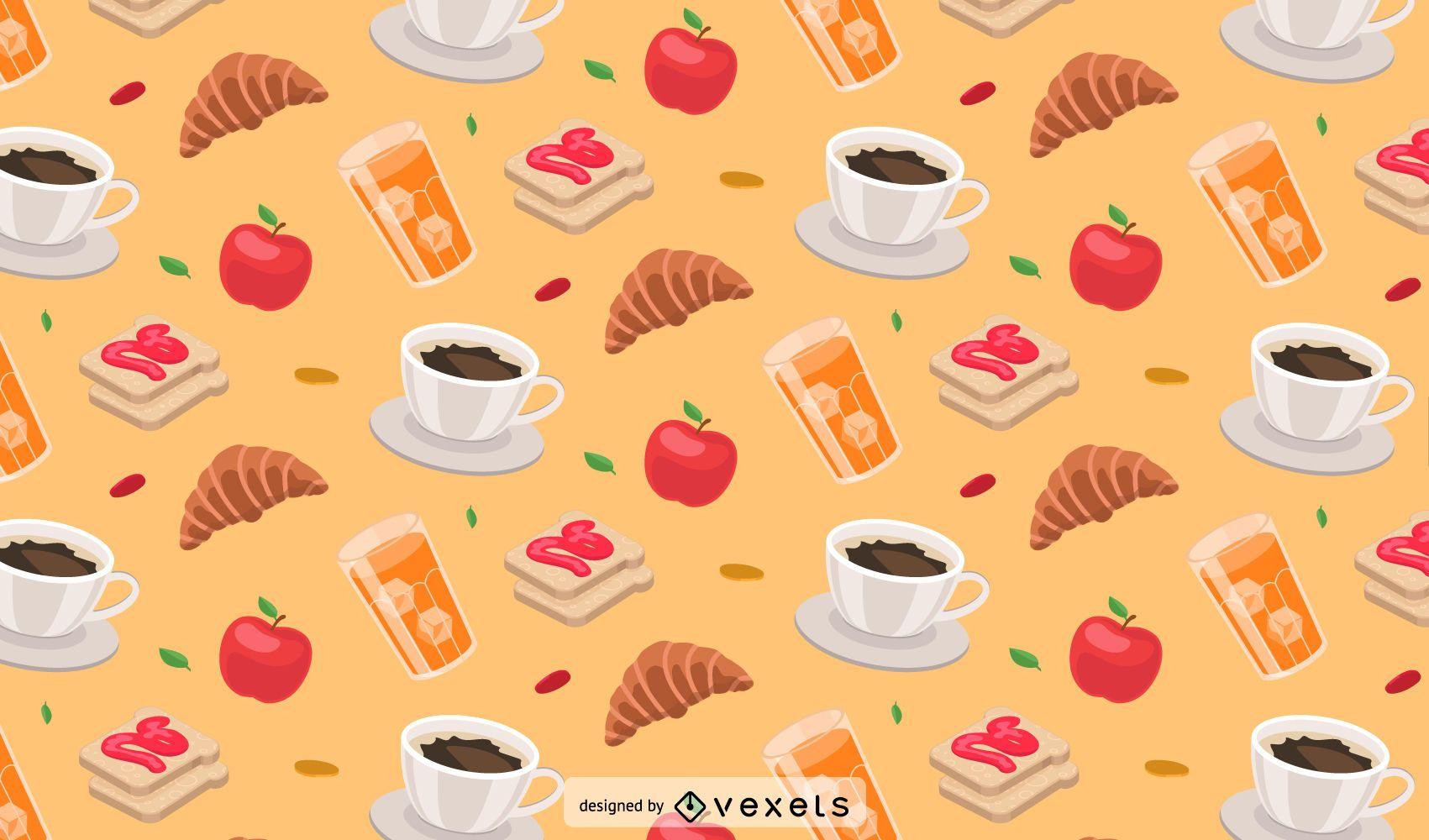 Food Illustration Pattern Design