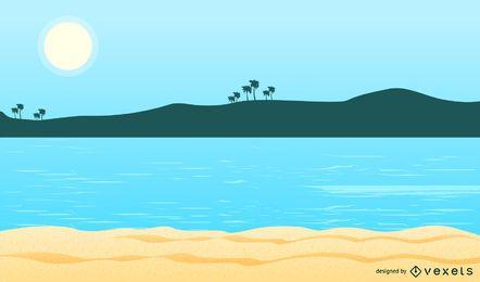 Fundo de praia verão 8