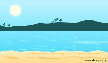 Summer Beach Background 8