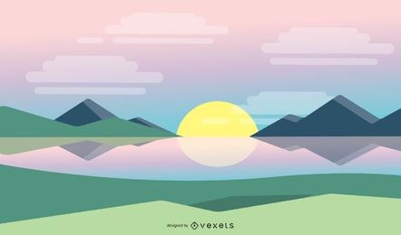 Einfacher Sonnenaufgang-Hintergrund