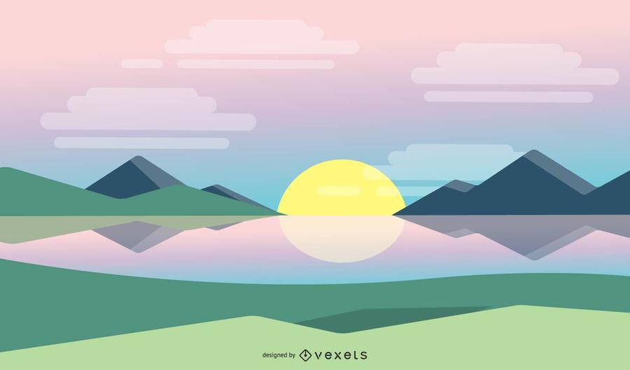 Simple Sunrise Background