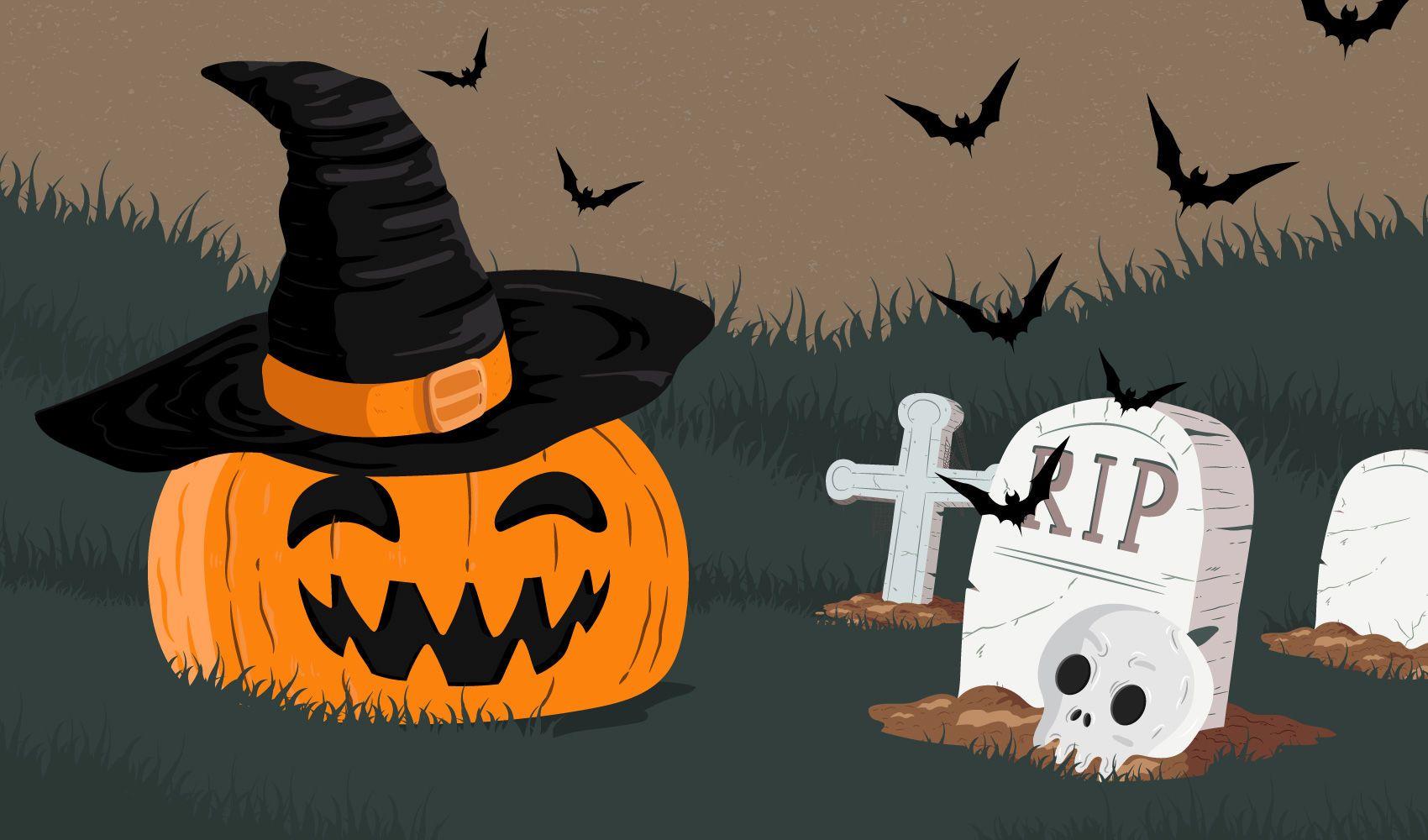 Halloween Pumpkin Bat
