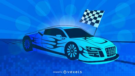 Racing coche deportivo de fondo