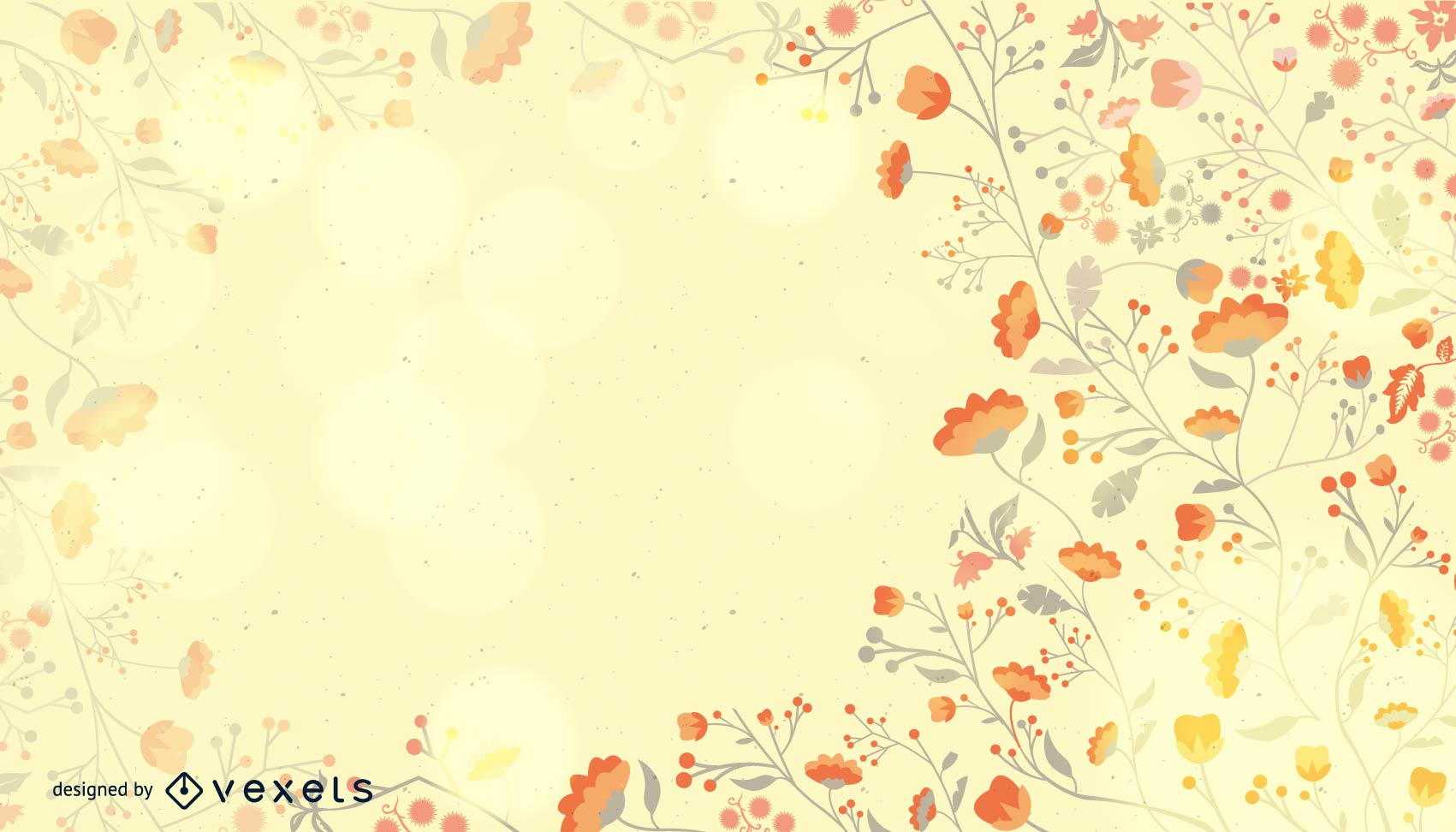 Fondo artístico floral