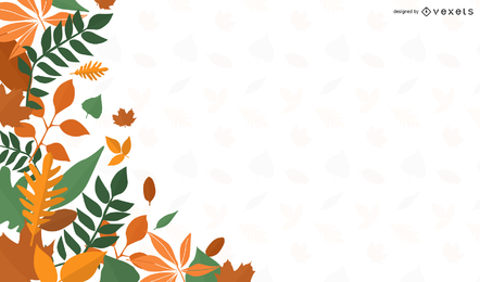 Resumen otoño verde naranja hojas