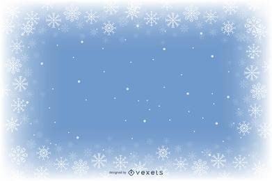 Fondo de copo de nieve azul
