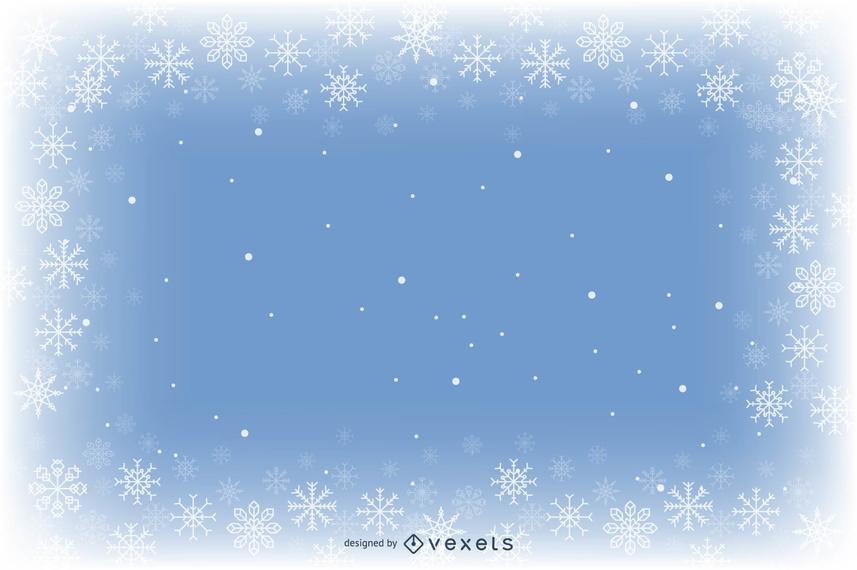 Fundo azul do floco de neve