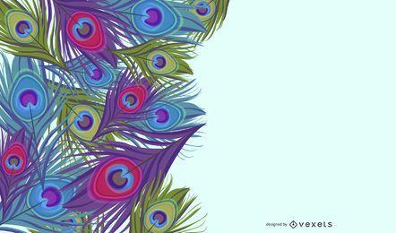 Fundo de penas de pavão