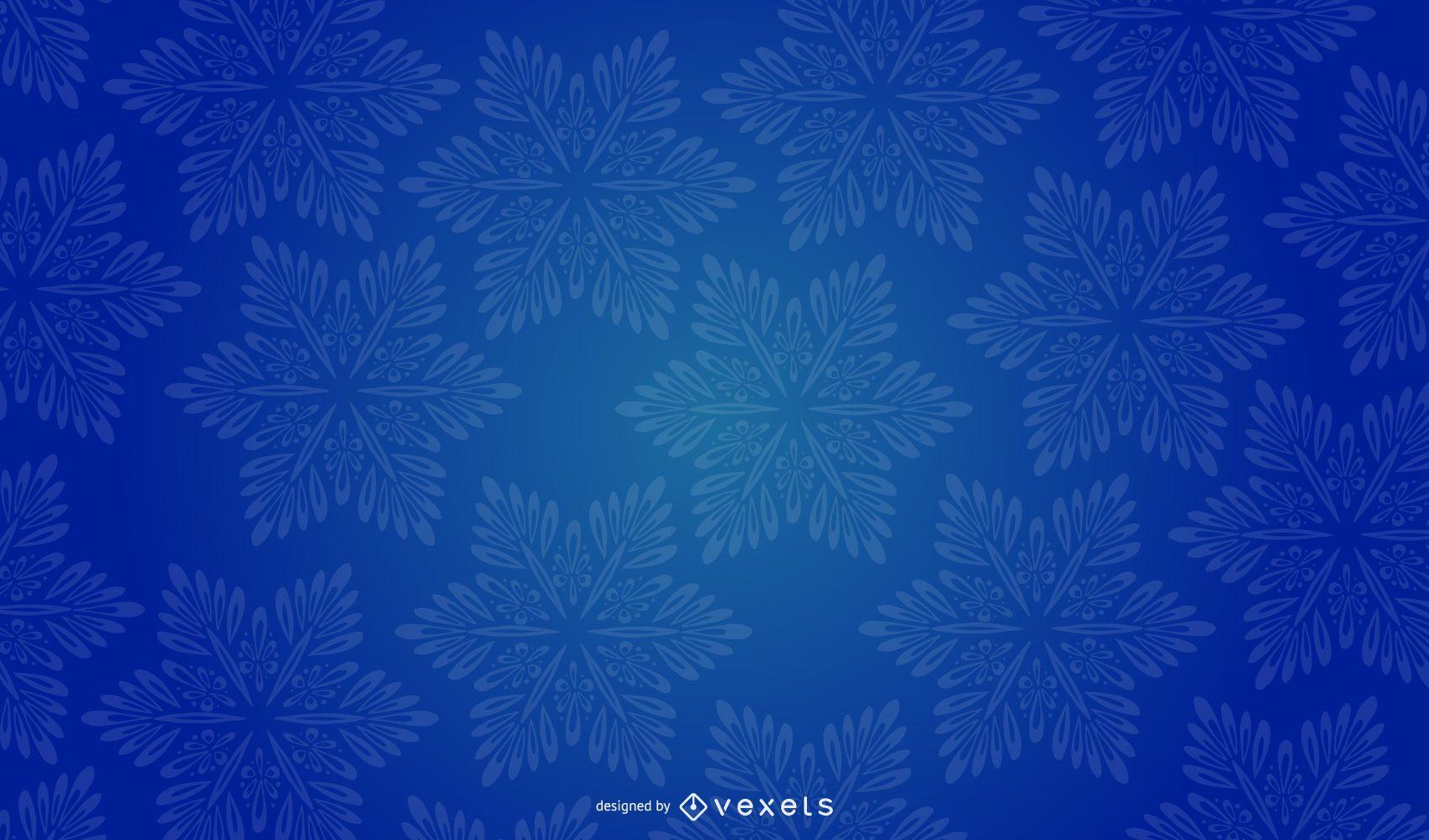 Diseño de vector de fondo de copo de nieve